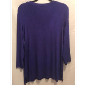 Citiknits Tops - Size Large Citiknits Slinky Tunic Top Purple